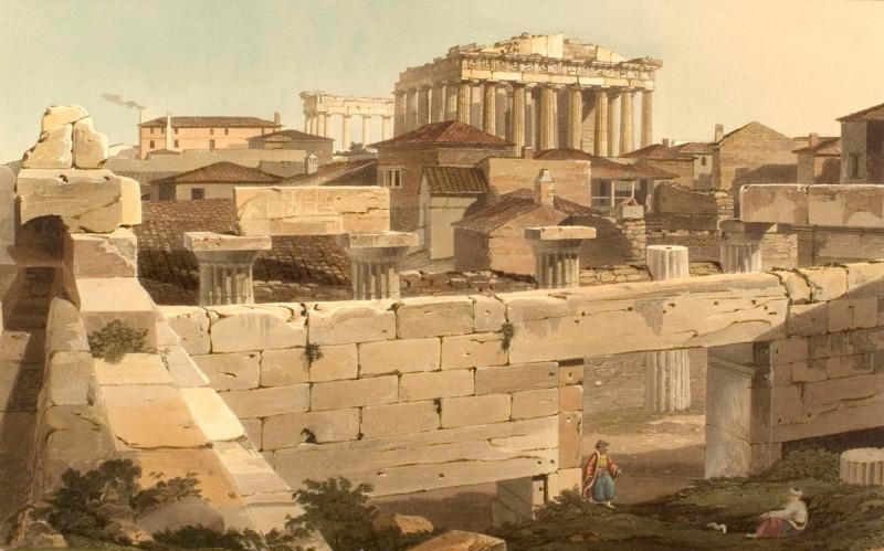 Парфенон в Афинах. Эдвард Додвелл (1821 г)