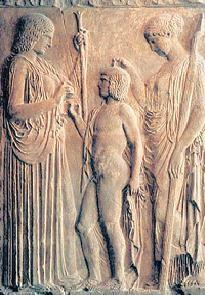 Деметра, Триптолем, Персефона.