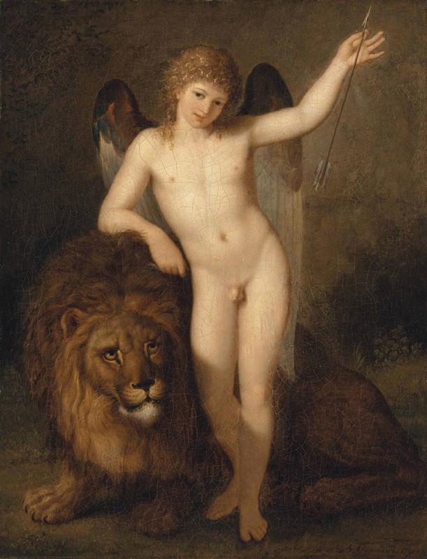 Bénigne_Gagneraux_-_Cupidon_avec_un_lion_(1791)