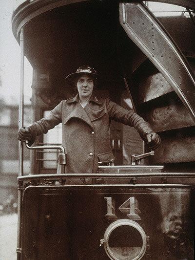 Вагоновожатая трамвая