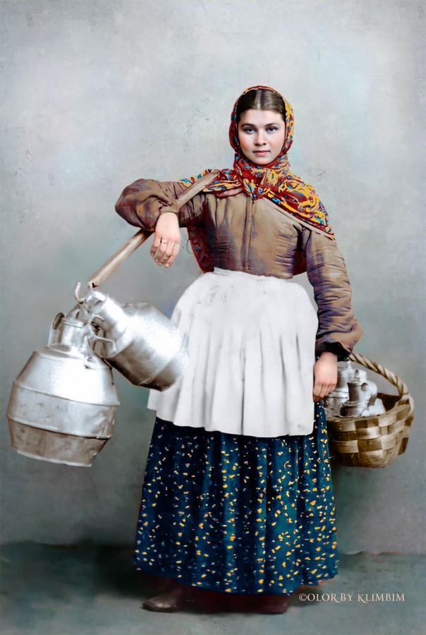 Уильям Каррик Продавщица молока (Охтенка) Санкт-Петербург, 1860-е годы