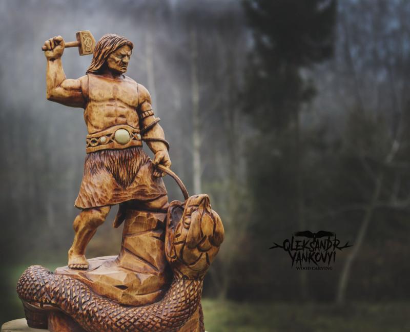 Тор и Мировой Змей - Ёрмунганд.