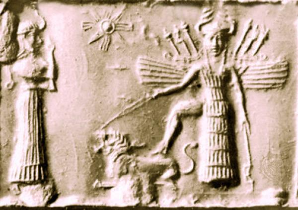 Инанна и ее символ-Венера.