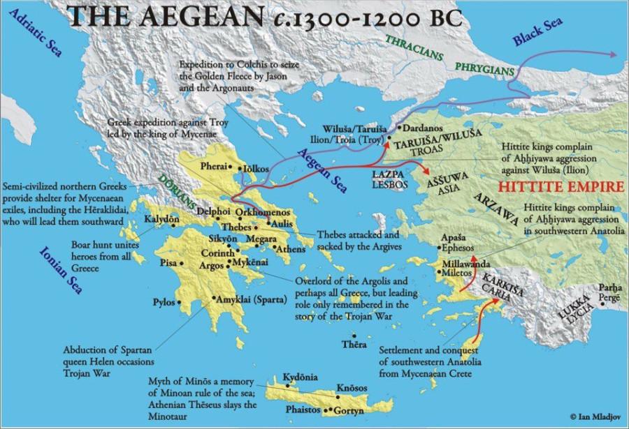 карта Эгеиды