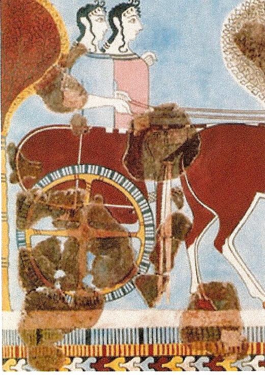 Фреска(Дамы на колеснице) Тиринф.