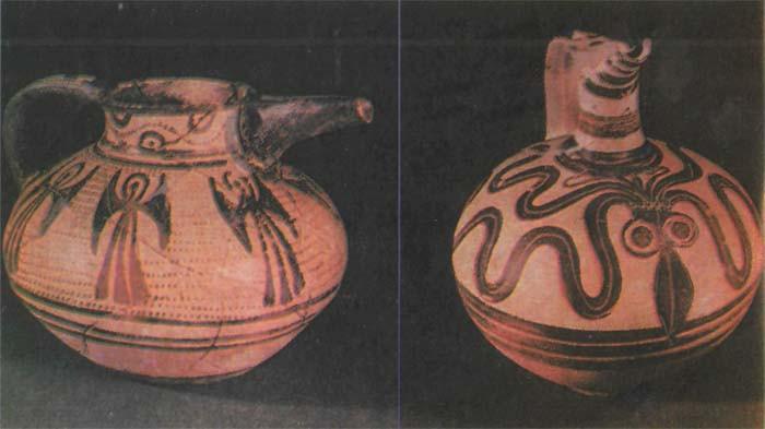 Глиняные сосуды из Микен (XVI-XV вв. до н.э.).