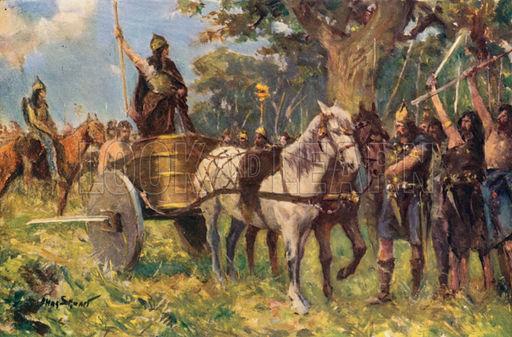 Queen Boadicea Addressing the Britons.