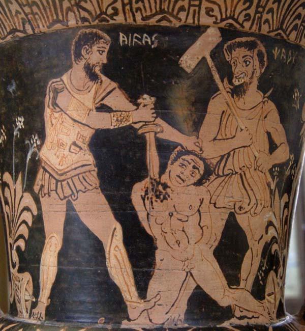фреска-харун-Ахиллеса-жертва-троянского-пленника-340-г.-до-н.э.