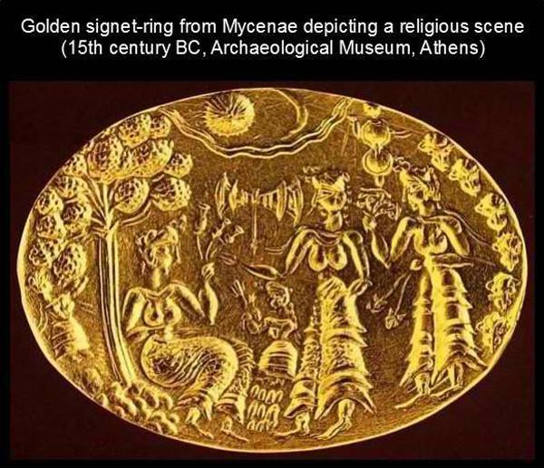 Перстень-золотой-с-Микен-XV-века-до-н.э.