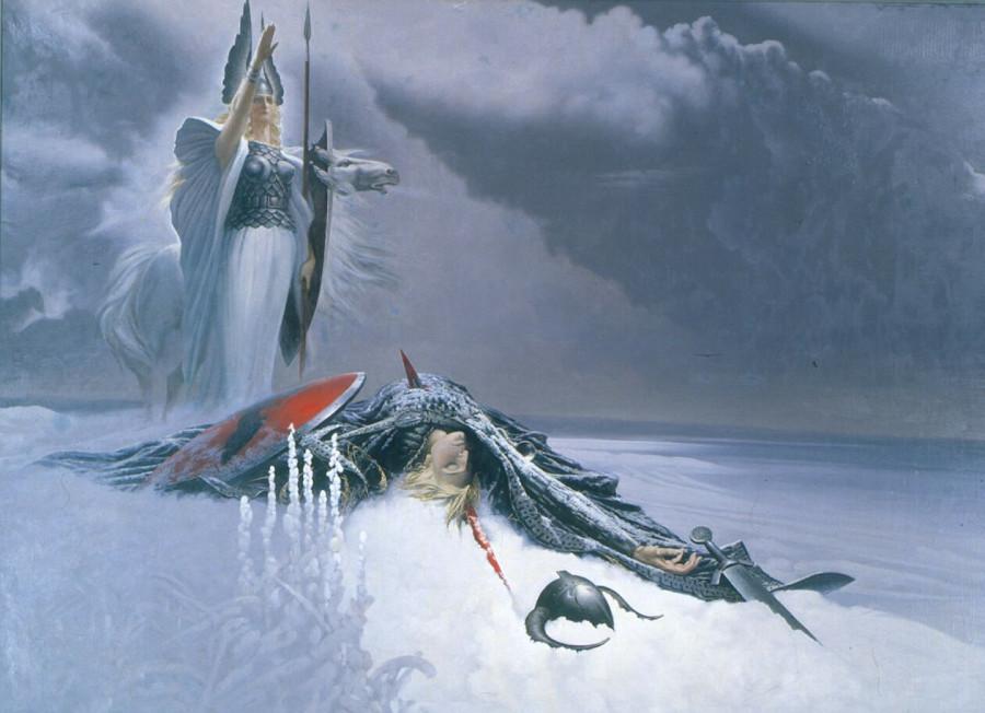 Константин Васильев. Валькирия над сражённым воином