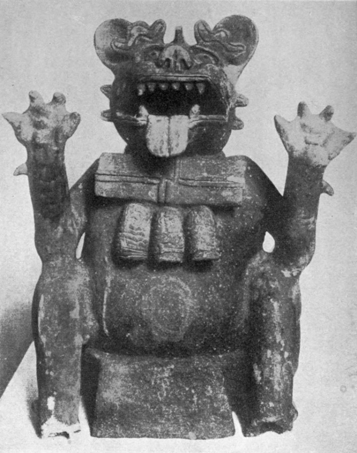 Lewis Spence, Tezcatlipoca as a were-jaguar, The Magic and Mysteries of Mexico, 1943