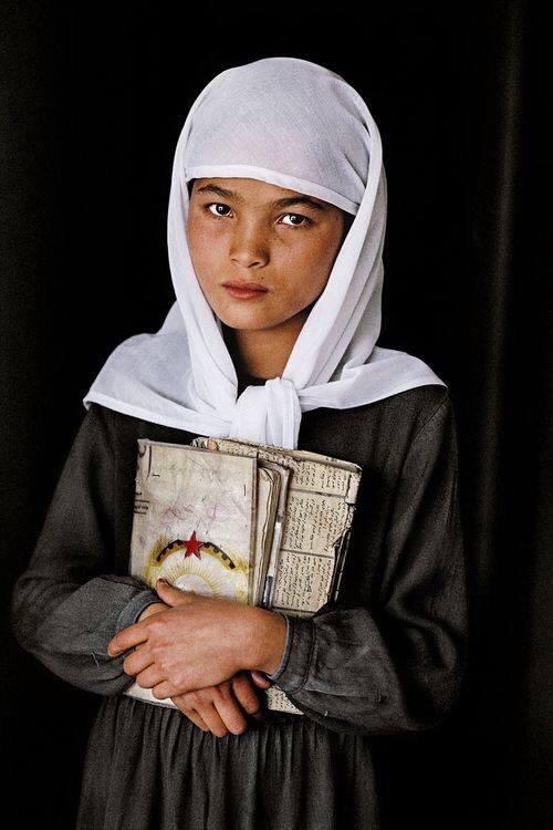 Школьница, Герат, Афганистан, 1992.