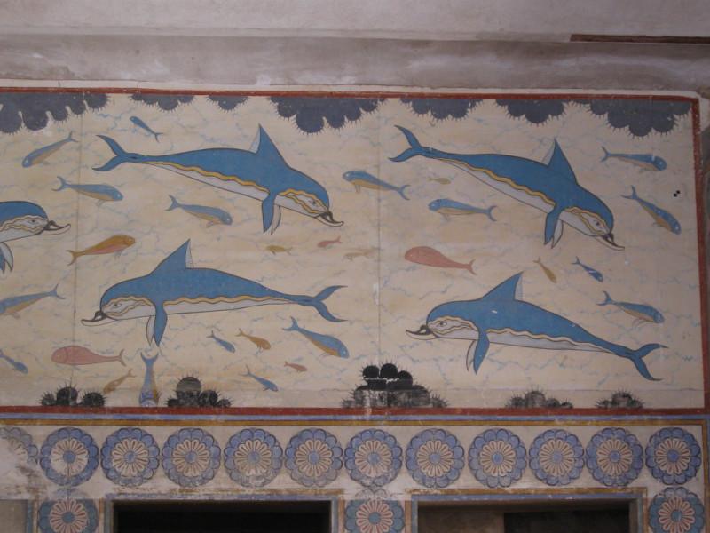 синие дельфины