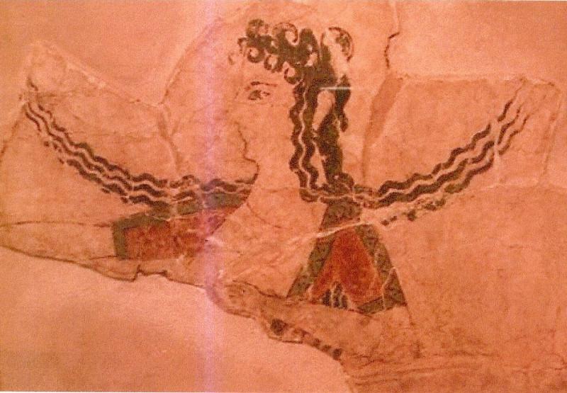 Крит. Фреска.(1600 г до н. э)