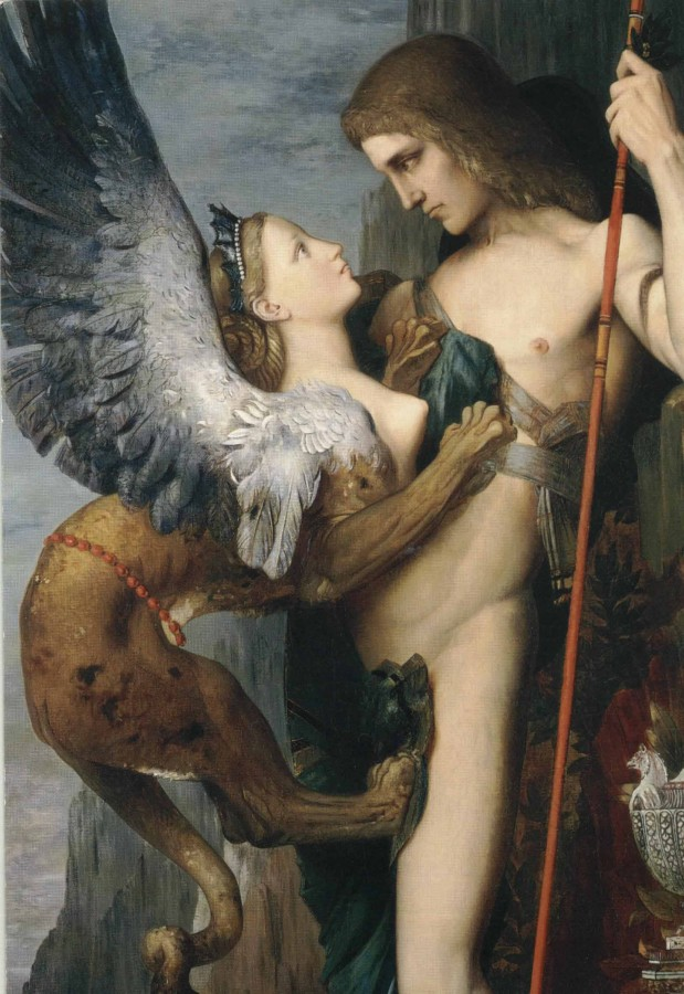 Gustave Moreau. Oedipus and the Sphinx, detail