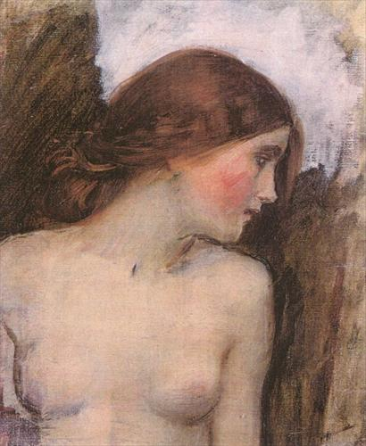 John W. Waterhouse, Study for the head of Echo.