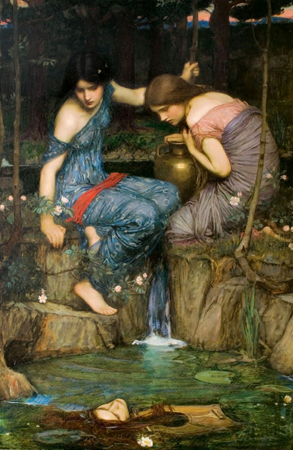 John W. Waterhouse, Nymphs Finding the Head of Orpheus. 1900
