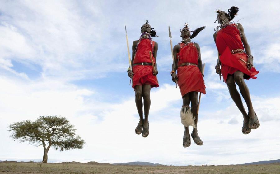 Masai jumping dance.