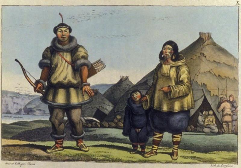 Логгин Андреевич Хорис. Чукотская семья. 1816 г.