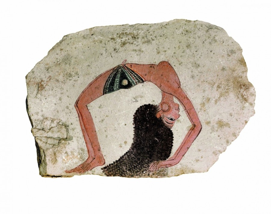 Ostracon of a Topless Dancer