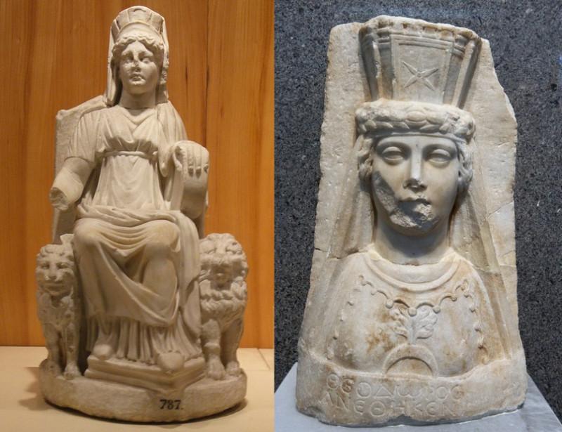 Изображения Великой Матери, первые века н. э.