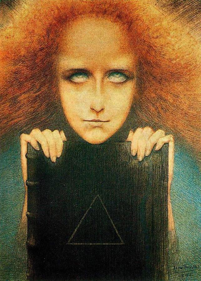 Таинственность (Портрет миссис Стюарт Мерилл), Жан Дельвиль