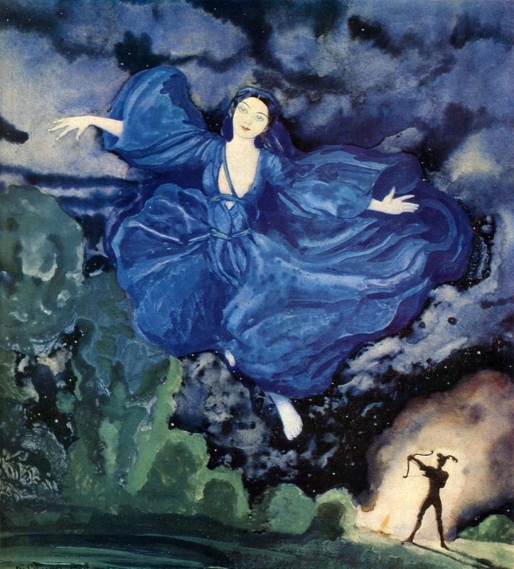 Синяя птица. К. А. Сомов. 1918