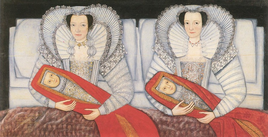 The Cholmondeley sisters and their babies