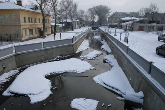 Липецк, река Липовка, канал