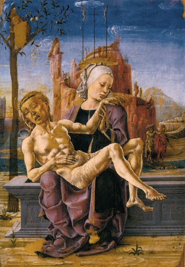 Иисус Христом на коленях у Матери