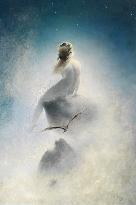 Asking the Stars by Karl Wilhelm Diefenbach