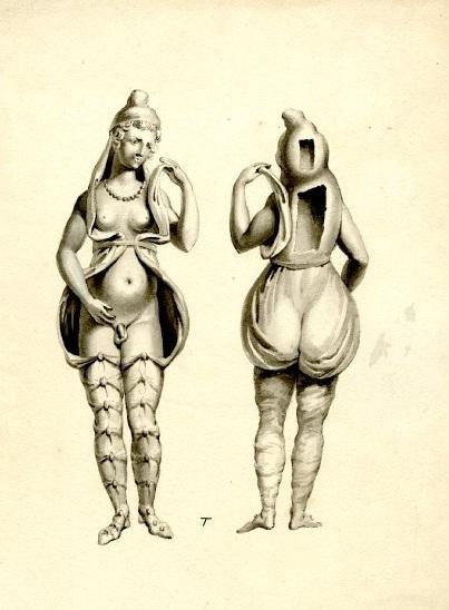 Bronze figure of Attis. Pen and ink-1
