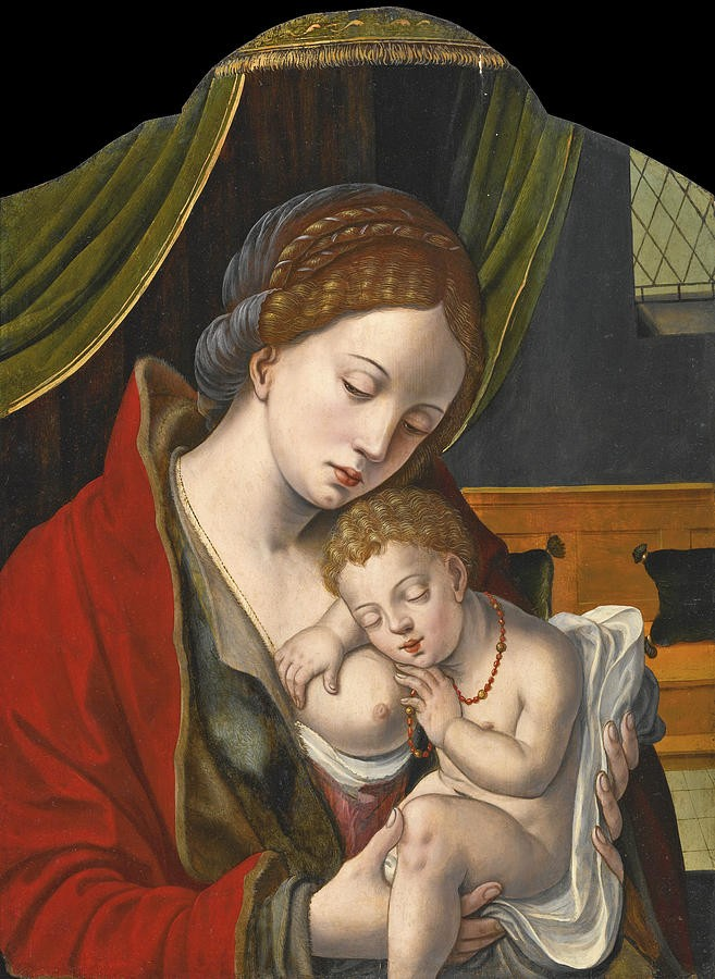 the-virgin-and-child-workshop-of-pieter-coecke-van-aelst