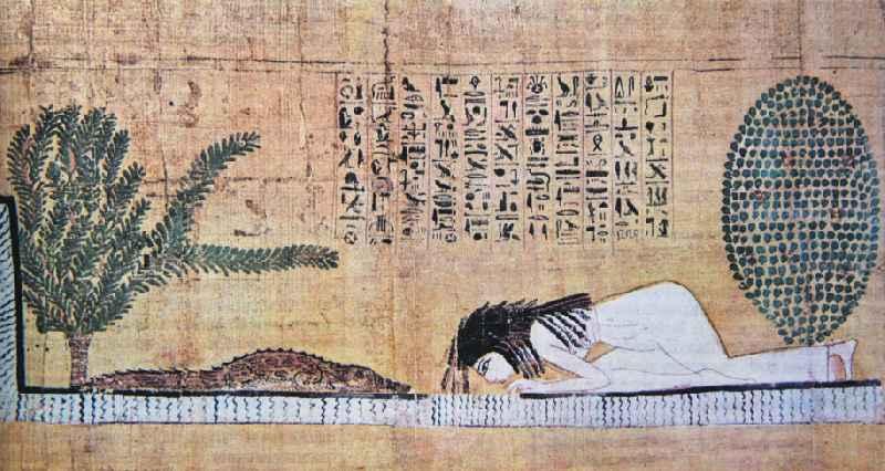 Поклонение священному крокодилу. Древнеегипетский папирус