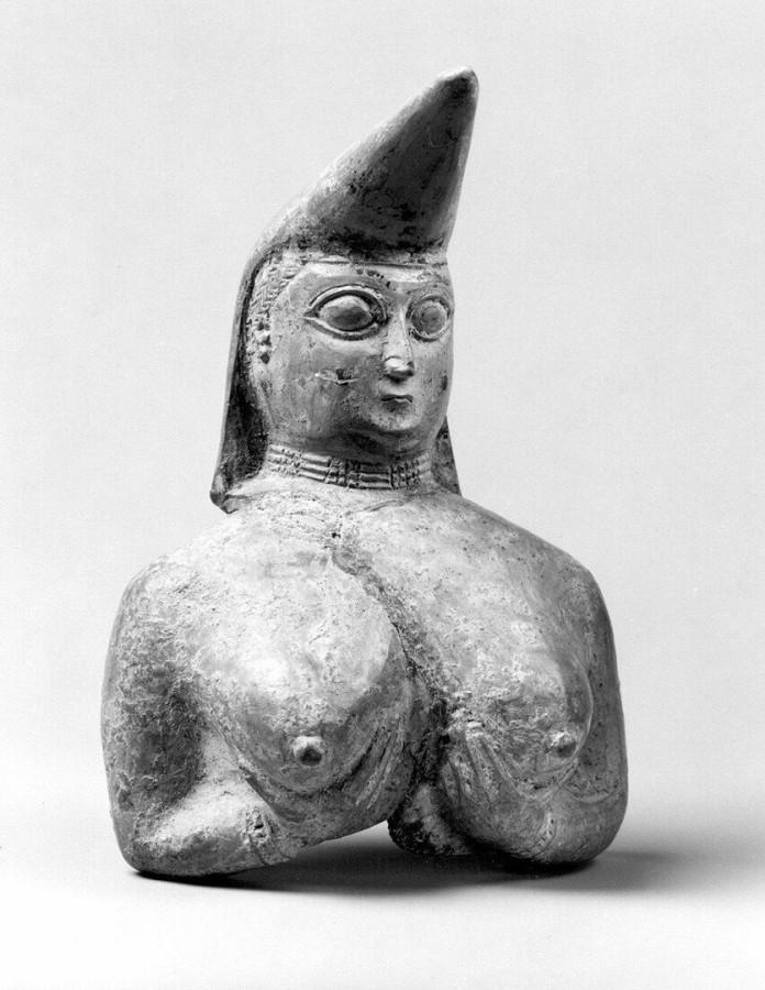 VIII-VII вв. до н. э. Сосуд в виде обнажённой женщины. Иран