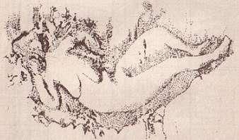 Рельеф с изображением женщины.