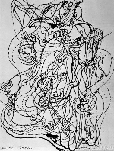 Андре Массон автоматический рисунок