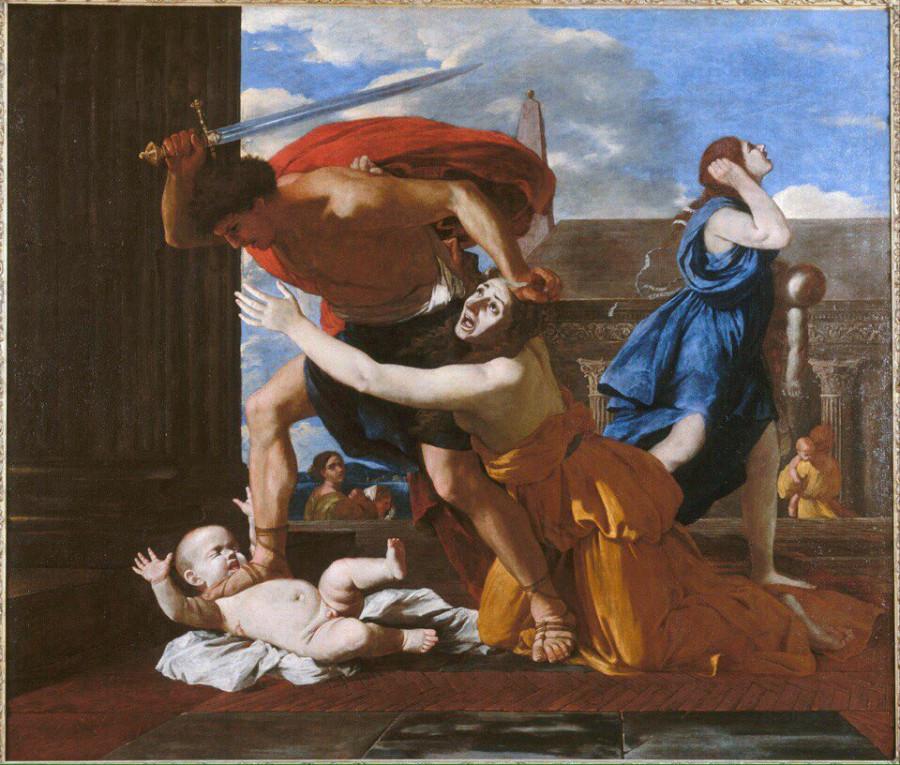 Картина избиение младенцев Микеланджело