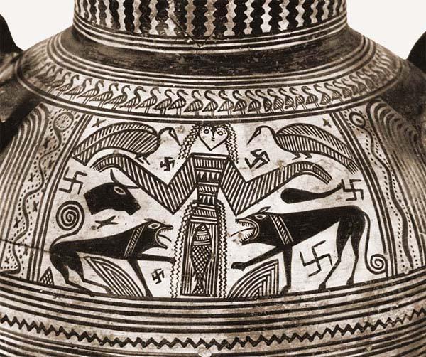 Беотийская амфора, ок. 680 г. до нэ