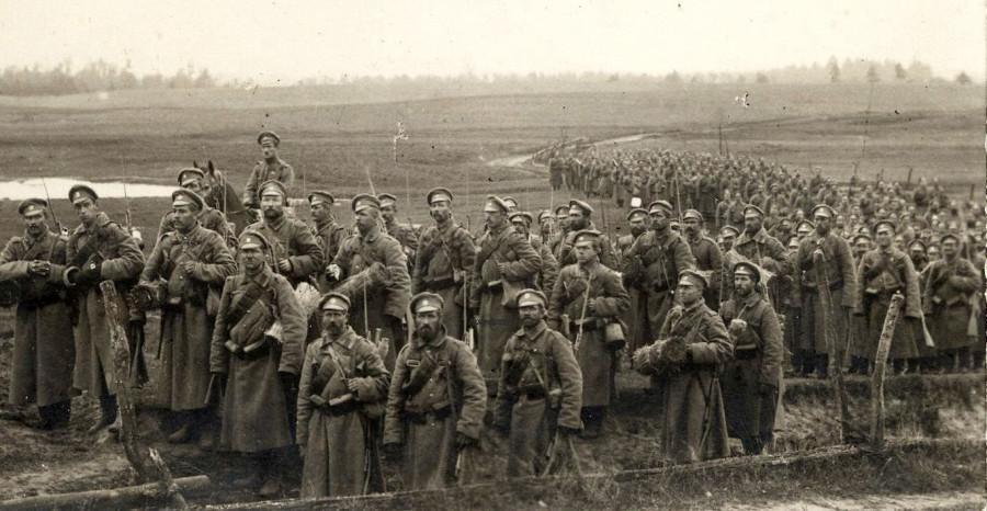 русские мужики на войне за царя