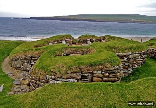 неолитический посёлок Скара-брей на Оркнейских островах (3100-2500)