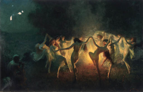 """Nymphs dancing to Pan's Flute"" by Joseph Tomanek (1889-1974)"