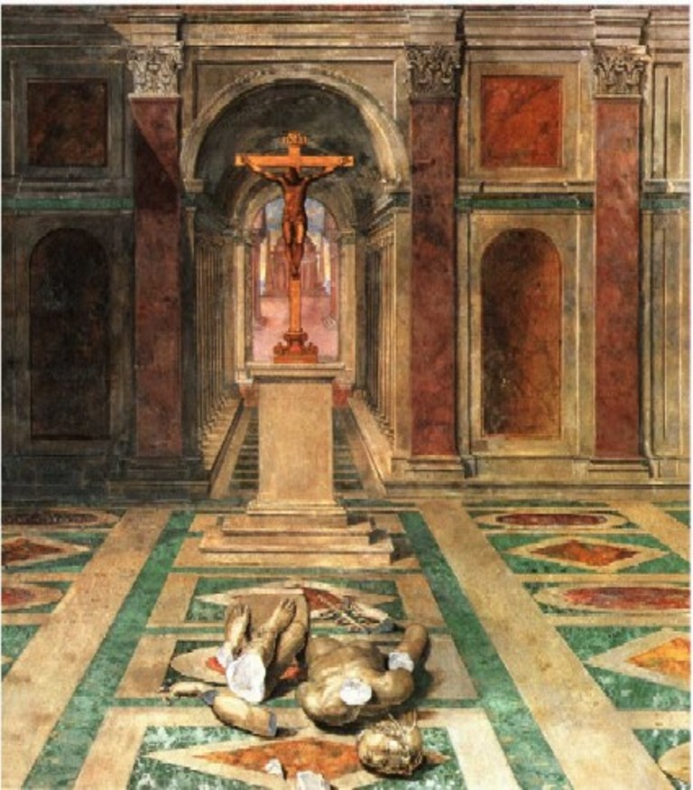 Торжество христианства, фреска, Томмазо Лорети, 1582