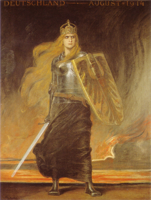 Frederich August von Kaulbach, Germania, 1914