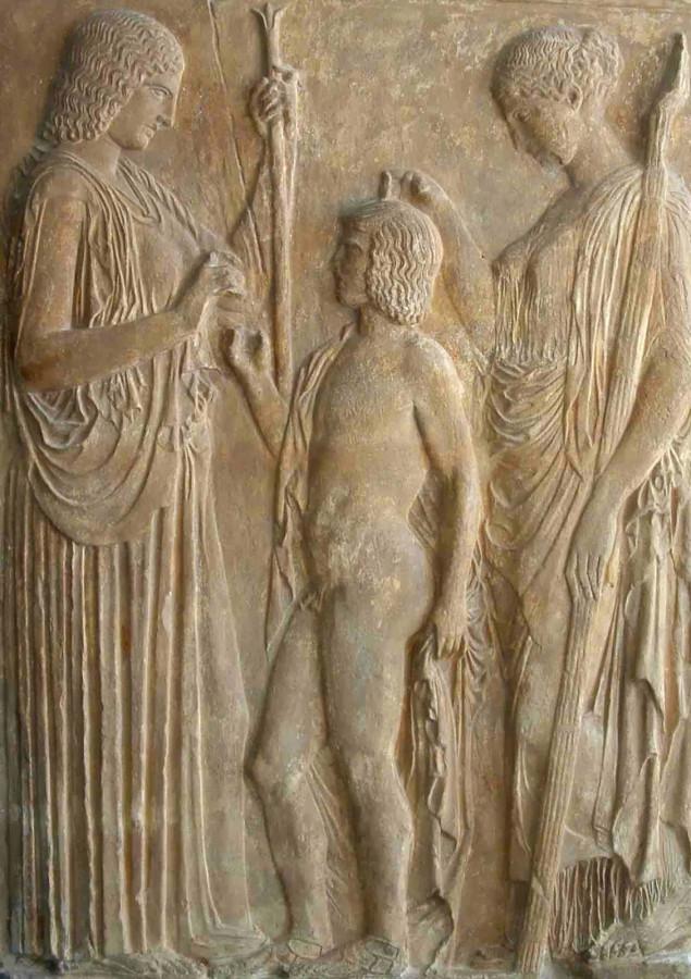 Деметра, Персефона и Триптолем