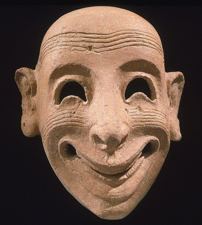 Phoenician clay mask. Made in Carthage, 5th century BC.