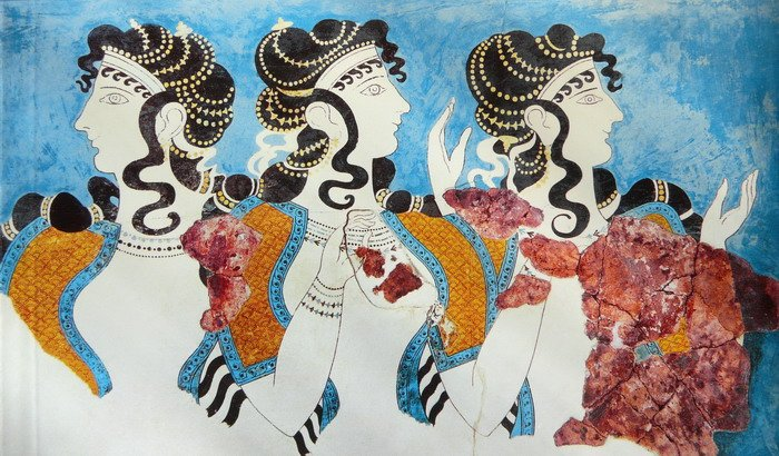 Минойские женщины.
