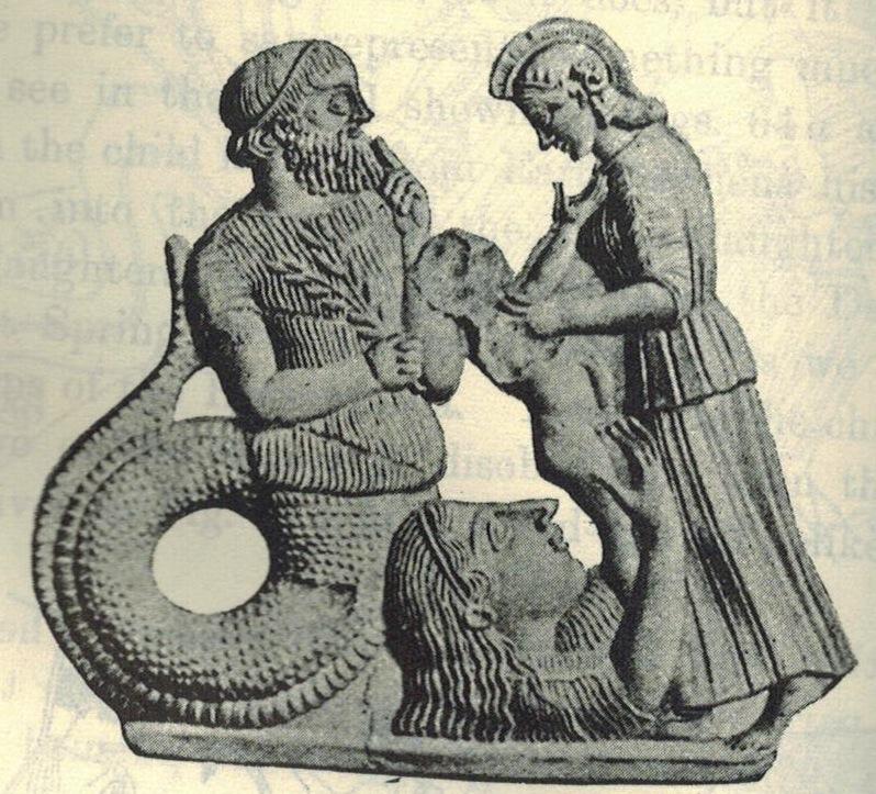 Змеехвостый Кекропс, основатель Афин