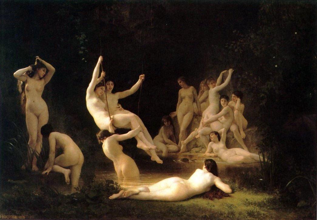 The Nymphaeum, 1878, William-Adolphe Bouguereau