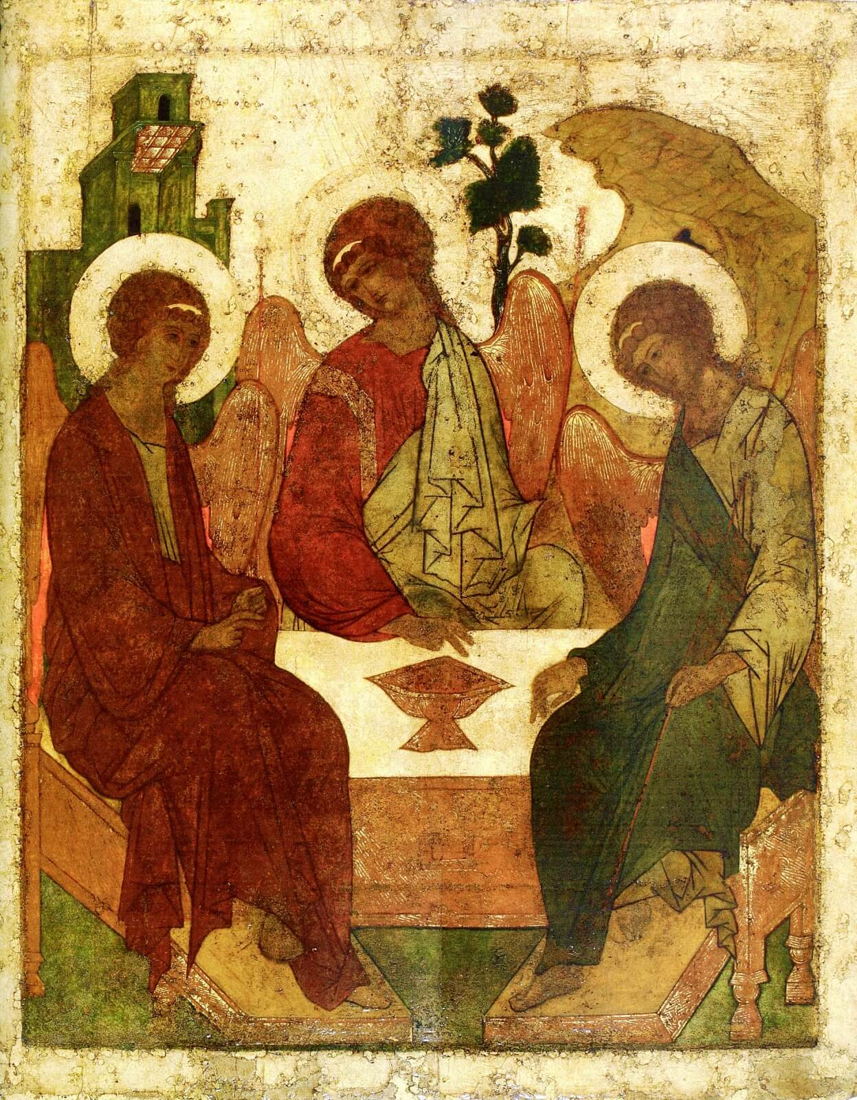 Икона Троица Андрея Рублёва